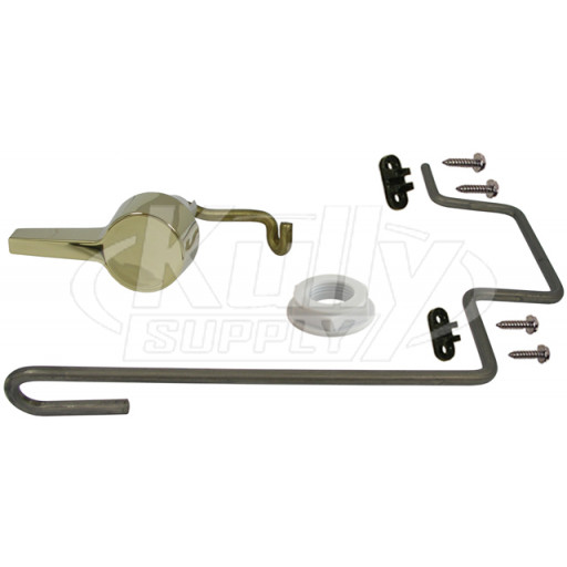 American Standard 738254-0990A Flushmate Polished Brass Handle and Rod Kit