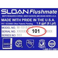 Sloan Flushmate Toilet Repair Parts By Serial Number